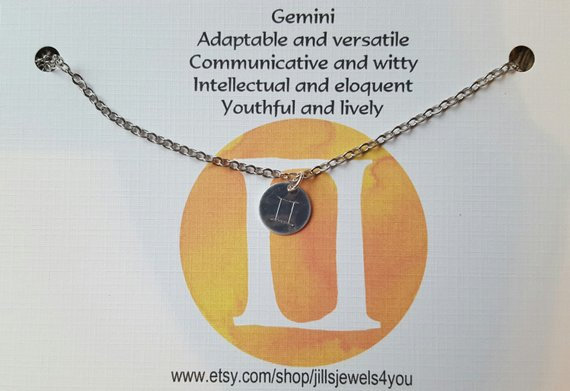 Zodiac Astrology Necklace-Gemini
