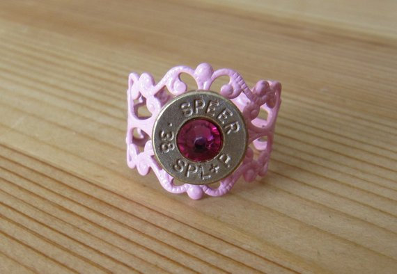 Bullet Ring- 38 Special Pink