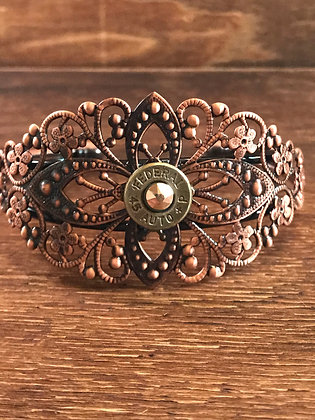 Antique Copper Cuff with 45 Bullet