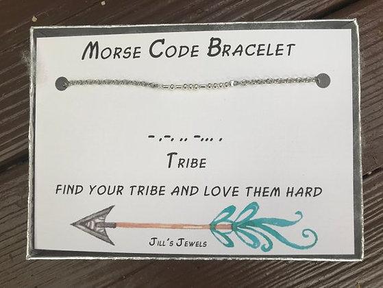 Morse Code Bracelet- Tribe