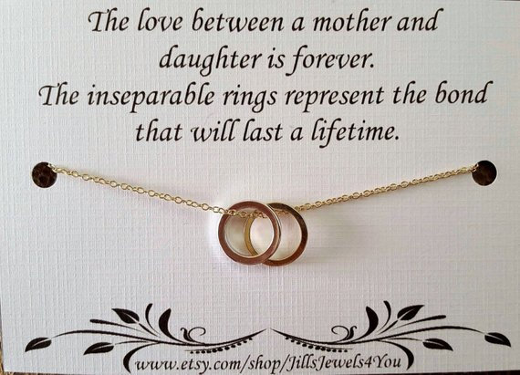 Inseparable Rings Necklace
