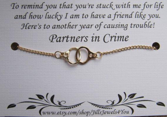 Partners In Crime Bracelet Gold