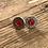 Thumbnail: Bullet Earrings- 38 Special Light Red - July Birthstone