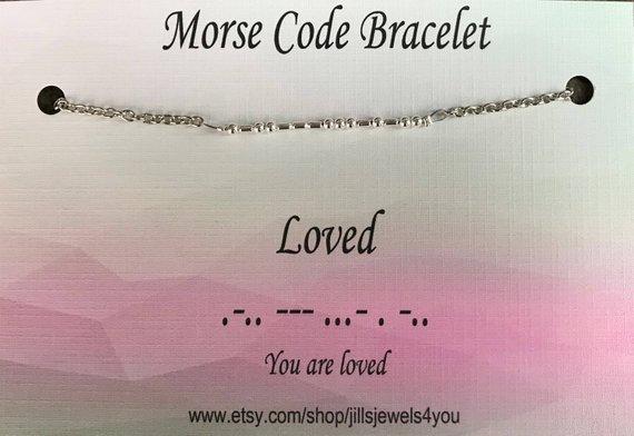 Morse Code Bracelet- Loved