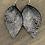 Thumbnail: Metallic Lace Printed Leather Earrings