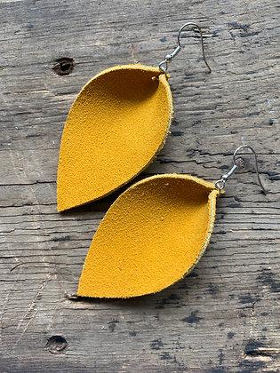 Yellow suede earrings