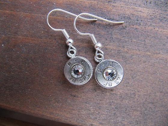 Bullet Earrings-38 Speical Dangle with Swarovski