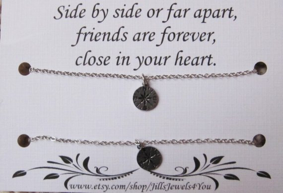 Long Distance Friendship Necklace Set of 2