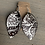 Thumbnail: Brown and Cream Western Leather Earrings