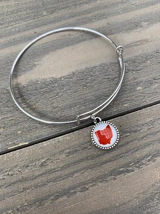 Red Ohio Bangle Bracelet