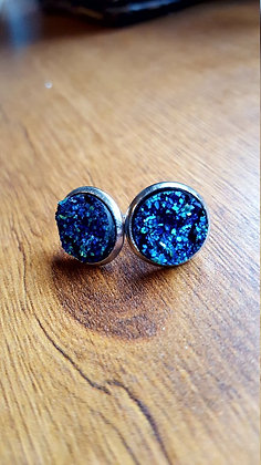 Druzy Earrings- Blue Boho
