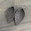 Thumbnail: Olive Green Hexagon Leather Earrings