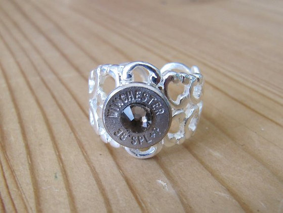 Bullet Ring- 38 Special Ultra with Greige Crystal