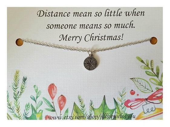 Tiny Compass Friendship Necklace