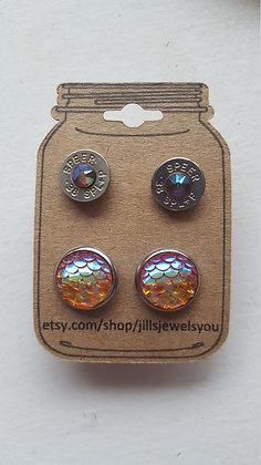 Druzy and Bullet Earrings-38Special Yellow Mermaid