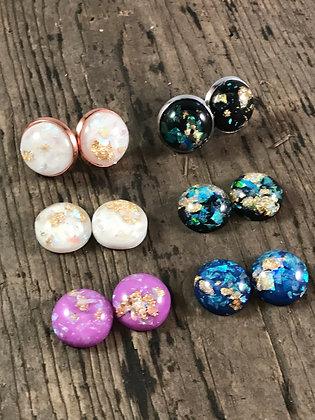 Gold flecked earrings