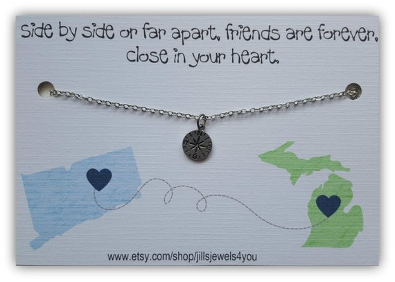 Just States Away Friendship Necklace