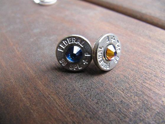 Bullet Earrings-38 Special Blue Rainbow