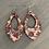 Thumbnail: Red Floral Cork Teardrop Earring
