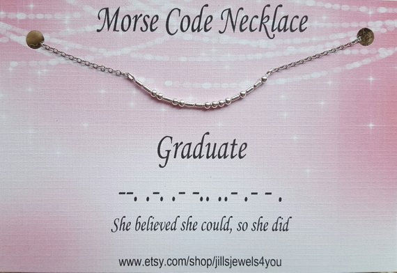 Morse Code Necklace- Graduate