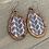 Thumbnail: Black and White Braid Cork and Wood Teardrop Earrings