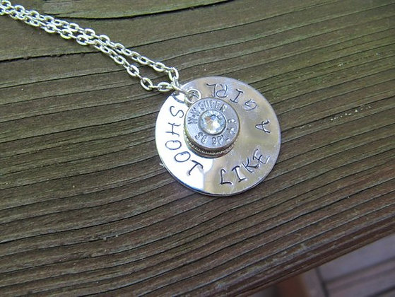Shoot Like A Girl 38 Special Bullet Necklace