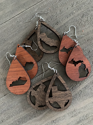 Pick your State Wooden Earrings