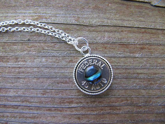 Bullet Necklace with Abalone Shell Accent
