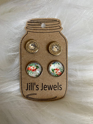 White floral and 38 special Earring Set