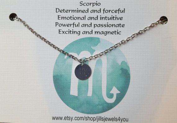 Zodiac Astrology Necklace-Scorpio