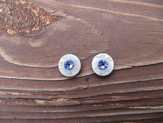 Bullet Earrings- 38 Speical Tanzanite Crystal