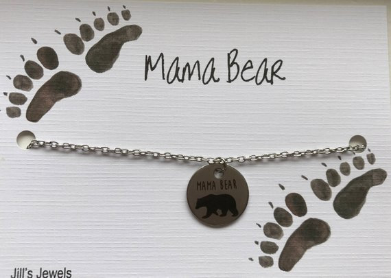 Mama Bear Coin Necklace
