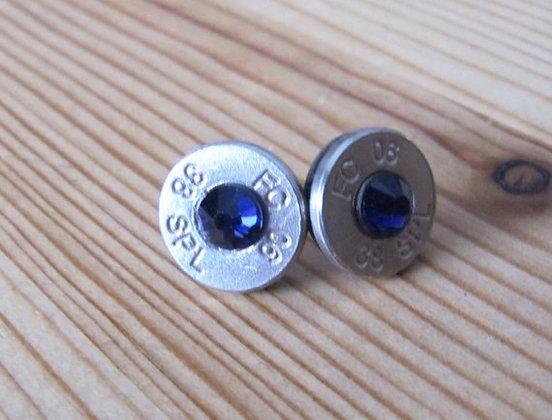 Bullet Earrings-38 Special Blue Saffphire