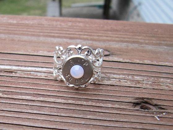 Bullet Ring- 38 Special Pink Opal Swarovski