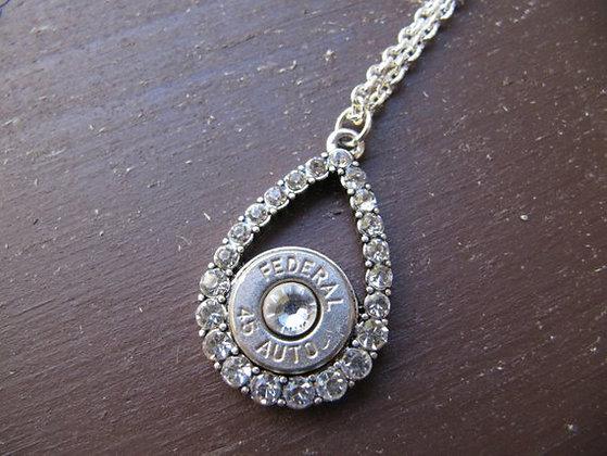 45 Bullet Tear Drop Necklace