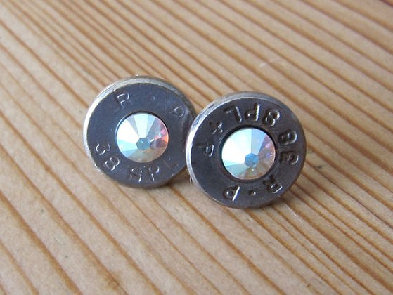 Bullet Earrings-38 Special AB Swarovski