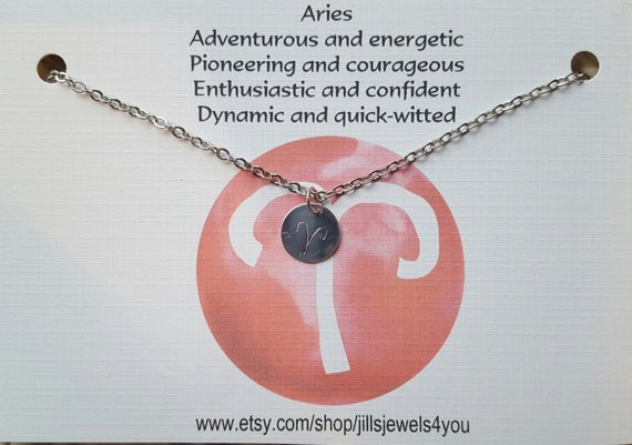 Zodiac Astrology Necklace-Aries