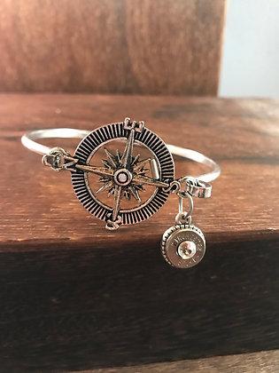 Antique silver Compass bracelet