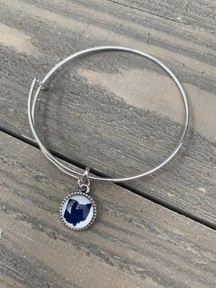 Blue Ohio Bangle Bracelet