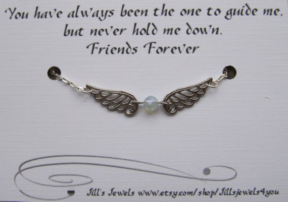 Best friend Friendship Angel Charm Anklet