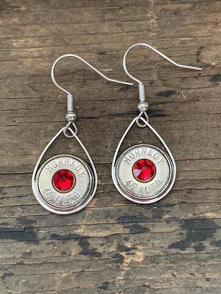 45 caliber redl tear drop bullet earrings