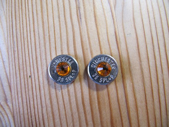 Bullet Earrings- 38 Caliber Sun Swarovski