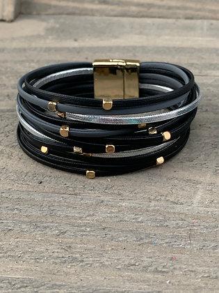 Black, Grey and Silver Magnetic Bracelet