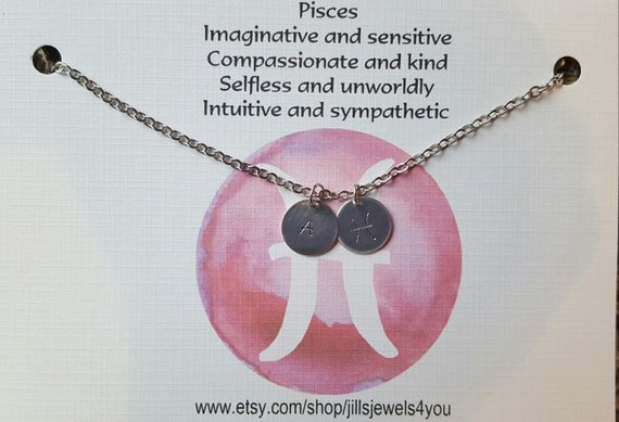 Zodiac Astrology Necklace-Pisces