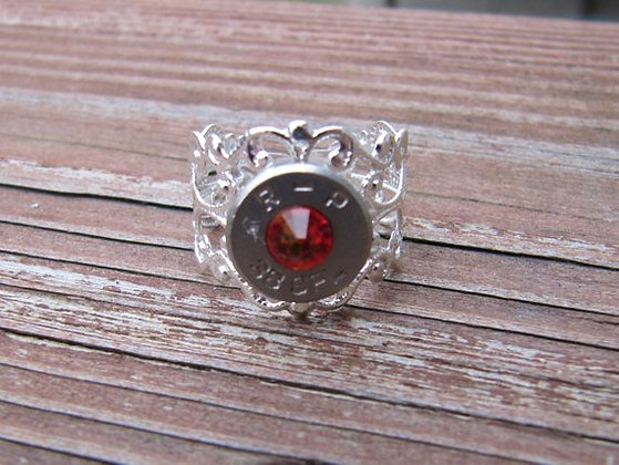 Bullet Ring- 38 Special Fire Opal