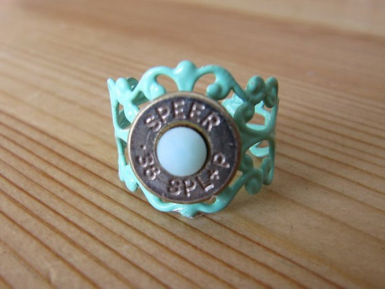 Bullet Ring- 38 Special Mint Green
