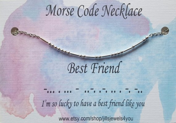 Morse Code Necklace- Best Friend