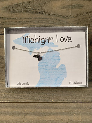 Tiny Michigan Home Necklace