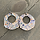 Thumbnail: Pastel Pebble Cork Hoop Earring