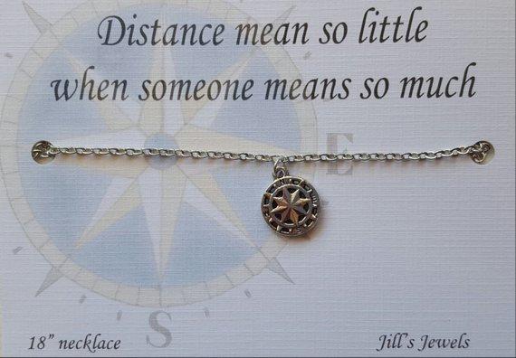 Best Friend Compass Necklace